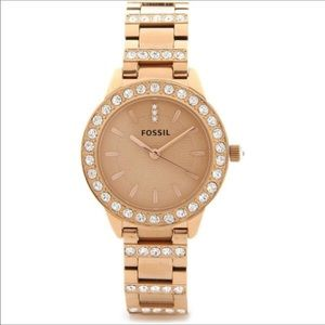🎀Gorgeous Fossil Crystal Embellished Gold Watch